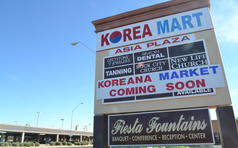 Korean sign (Photo by Kimberly Simpson/Cronkite News)