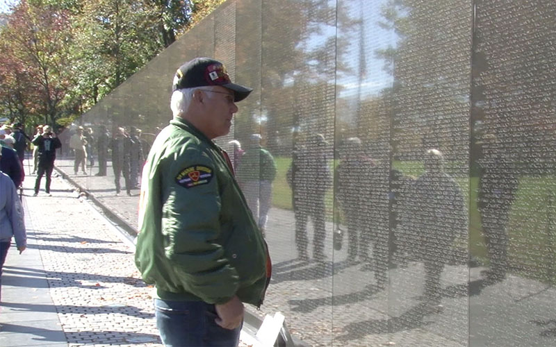 Almost 5.6 million visitors came to the Vietnam Veterans Memorial in 2015, making it the second-most visited site on the National Mall, after the Lincoln Memorial. (Photo by Dillion Eddie/Cronkite News)
