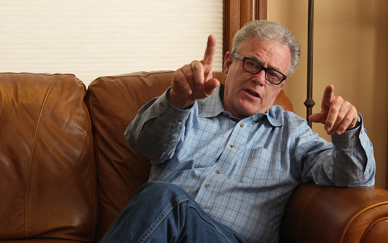 State Rep. Noel Campbell, R-Prescott, explains sober living homes in Prescott. (Photo by Joshua Bowling/Cronkite News)