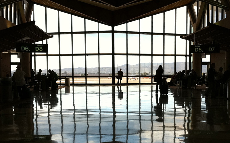 Terminal 4 at Phoenix Sky Harbor International Airport, which was recently named best for travelers of the nation's largest commercial airport, even though it did not finish in first place in any one category, (Photo by Alan Levine/Creative Commons)