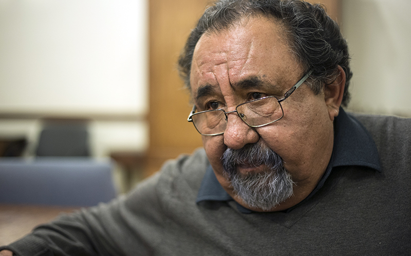 Rep. Raul Grijalva, D-Tucson, hosted a 'listening session' to discuss what the future of Medicare, Medicaid and Social Security might look like under a Trump administration, in Tuscon, Arizona, on Friday, Jan. 20, 2017. (Photo by Johanna Huckeba/Cronkite News)