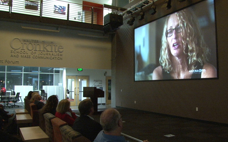 "Based on early television viewership projections, nearly 900,000 viewers tuned in to ""HookedRx: From Prescription to Addiction,"" a Cronkite News report on Arizona's prescription opioid epidemic, according to early Nielsen rating numbers. (Photo by Natalie Tarangioli/Cronkite News)"