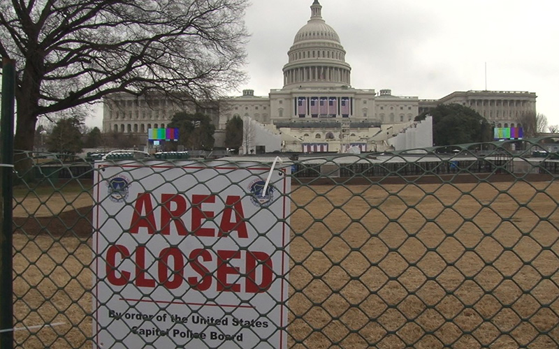 This area in front of the Capitol will be packed with thousands Friday for the inauguration of President-elect Donald Trump - an event a number of Democratic lawmakers say they will not attend. (Photo by Anthony Marroquin/Cronkite News)