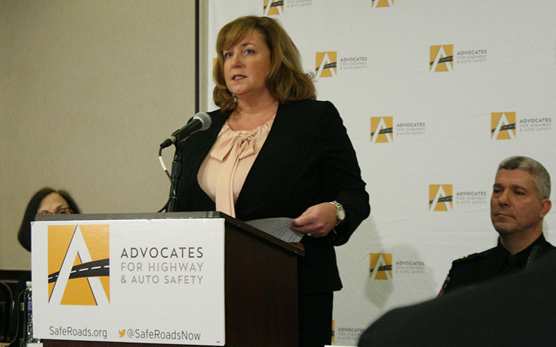 "Cathy Chase of the Advocates for Highway and Auto Safety said Arizona was ""one of the worst states"" for highway safety laws in the annual report card put out by her group. (Photo by Joseph Guzman/Cronkite News)"