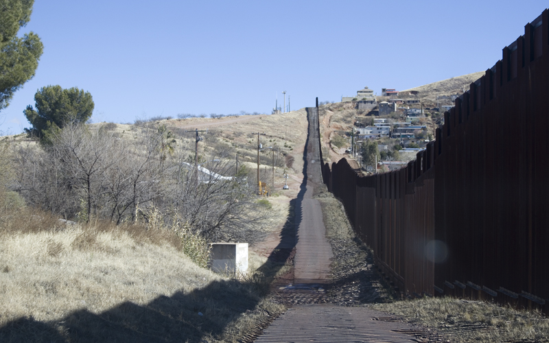 A look at the current border wall between the United States and Mexico in Nogales on Wednesday, January 25, 2017. (Photo by Josh Orcutt/Cronkite News)