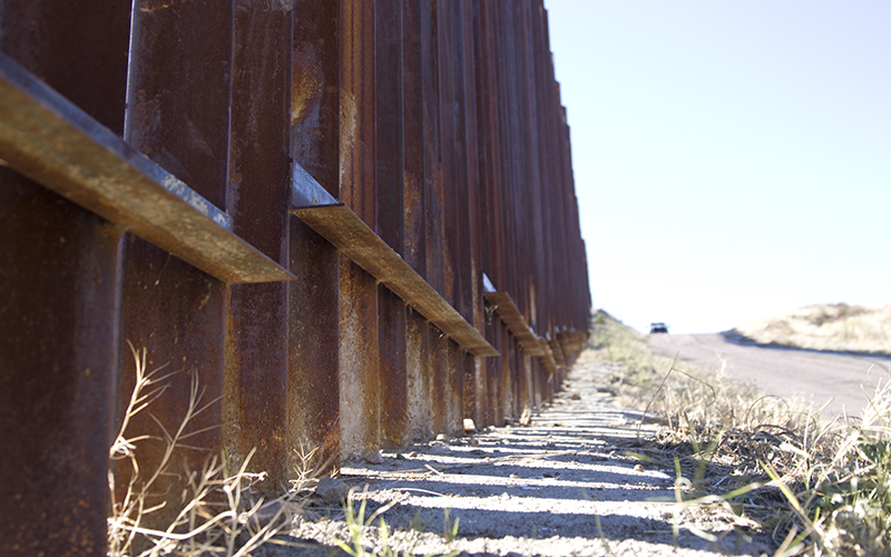 A look at the current border wall between the United States and Mexico in Nogales on Wednesday, January 25, 2016. (Photo by Josh Orcutt/Cronkite News)