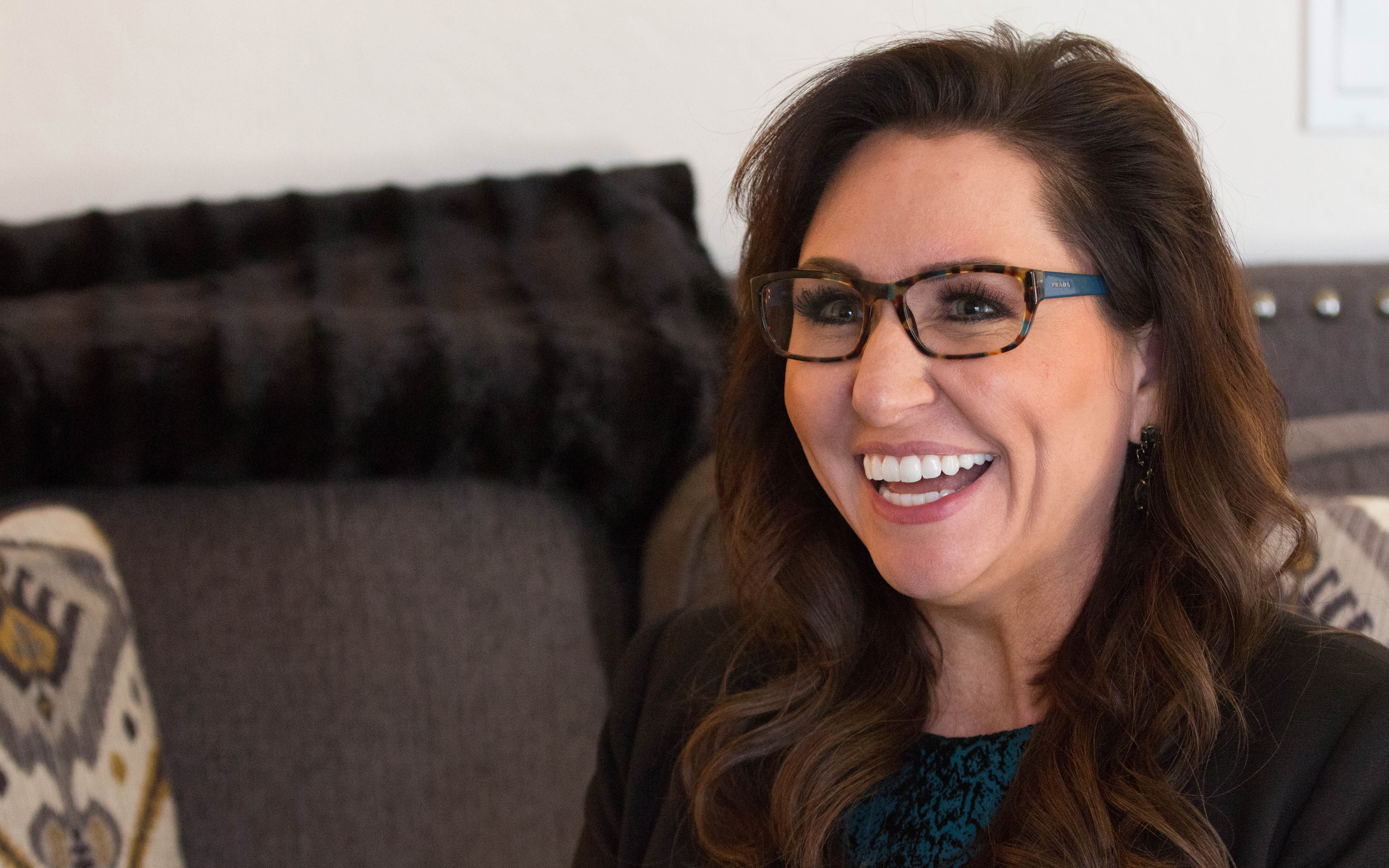 Dr. Amy Serin, neuropsychologist and creator of Buzzies, said the product inhibits stress responses and enhances memory recognition. (Photo by Megan Bridgeman/Cronkite News)