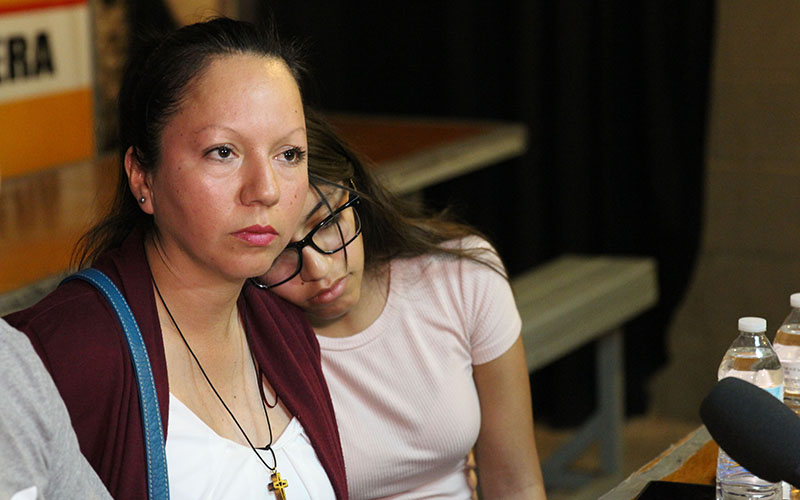 Jacqueline Rayos traveled to Nogales, Sonora to visit her mother, Guadalupe Garcia de Rayos, after she was deported. (Sophia Kunthara/Cronkite News)