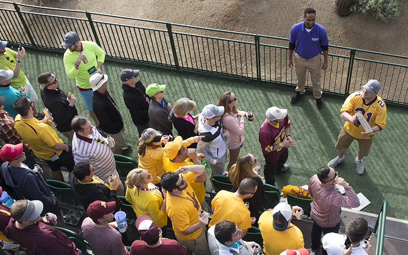 Drunk Man Tries To Keep His Balance At Waste Management Phoenix Open