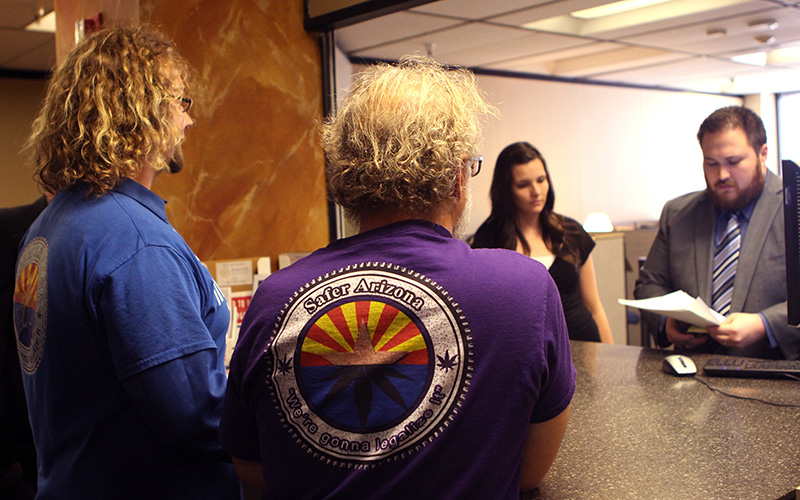 Safer Arizona, a political action committee, filed an initiative Thursday with the Secretary of State's office to get the issue on the November 2018 ballot. (Photo by Chelsey Ballarte/Cronkite News)