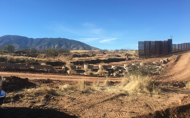 The federal government is upgrading the border fence on teh Ladd Ranch to make it 18 feet tall.