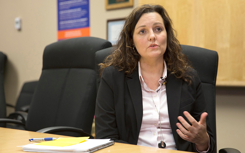 """We do have work to do, and we recognize that,"" said Kristen Mackey, the administrator of the state's Vocational Rehabilitation program. (Photo by Johanna Huckeba/Cronkite News)"