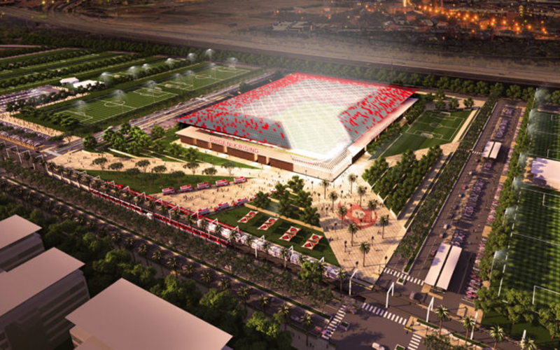 A rendering of the potential permanent MLS stadium for Phoenix Rising FC. (Photo courtesy of Phoenix Rising FC)