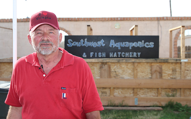 John Healy started Southwest Aquaponics and Fish Hatchery in Glendale with just one tank in his backyard.