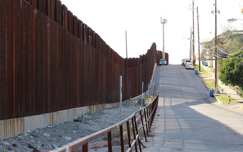 U.S.Department of Homeland Security Secretary John Kelly toured the U.S.-Mexico border with Gov. Doug Ducey in Nogales, Arizona Thursday. (Sophia Kunthara/Cronkite News)