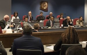 Members of the House Education Committee consider a bill to require district and charter schools to distribute a state handbook to identify and help students with dyslexia. (Photo by Josh Orcutt/Cronkite News)