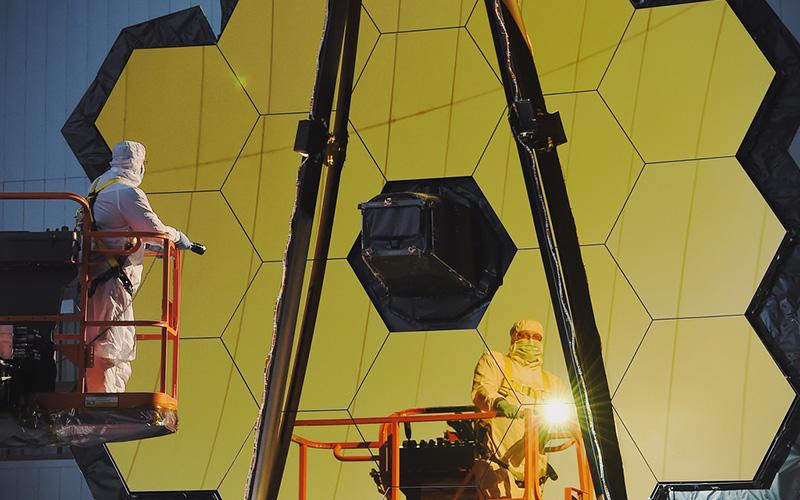 NASA completes Webb telescope center of curvature pre-test.