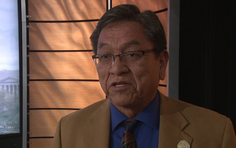 Navajo Nation President Russell Begaye said tribal nations have made gains in their dealings with the federal government but still have to seek permission too often for what they should control. (Photo by Anthony Marroquin/Cronkite News)