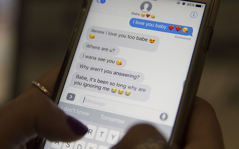 In a Pew Research Center survey, 11 percent of the teens survey indicated they expect to hear from their boyfriend or girlfriend hourly. (Photo by Megan Bridgeman/Cronkite News)