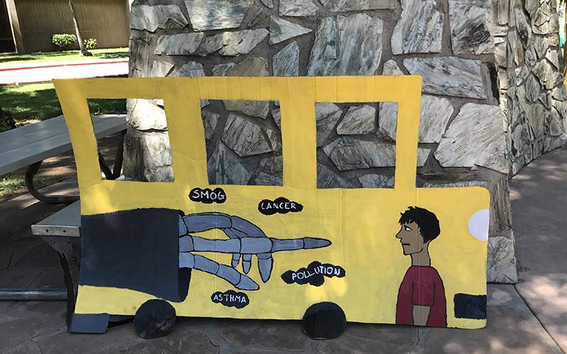 cardboard school bus