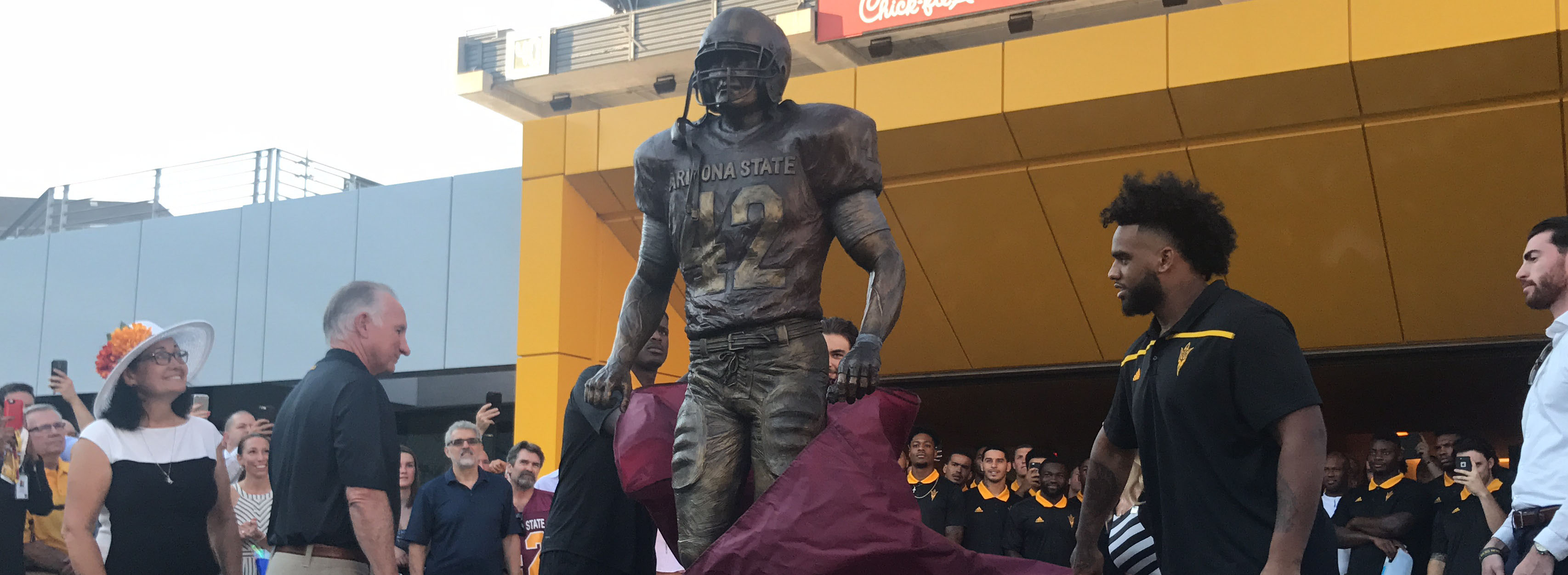 A bronze statue of Pat Tillman was unveiled at Sun Devil Stadium. It sits  near the Tillman tunnel cc081cbac