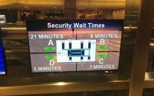 Security wait times monitor