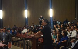 Community member testifying