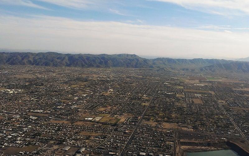 Aerial shot of Phoenix