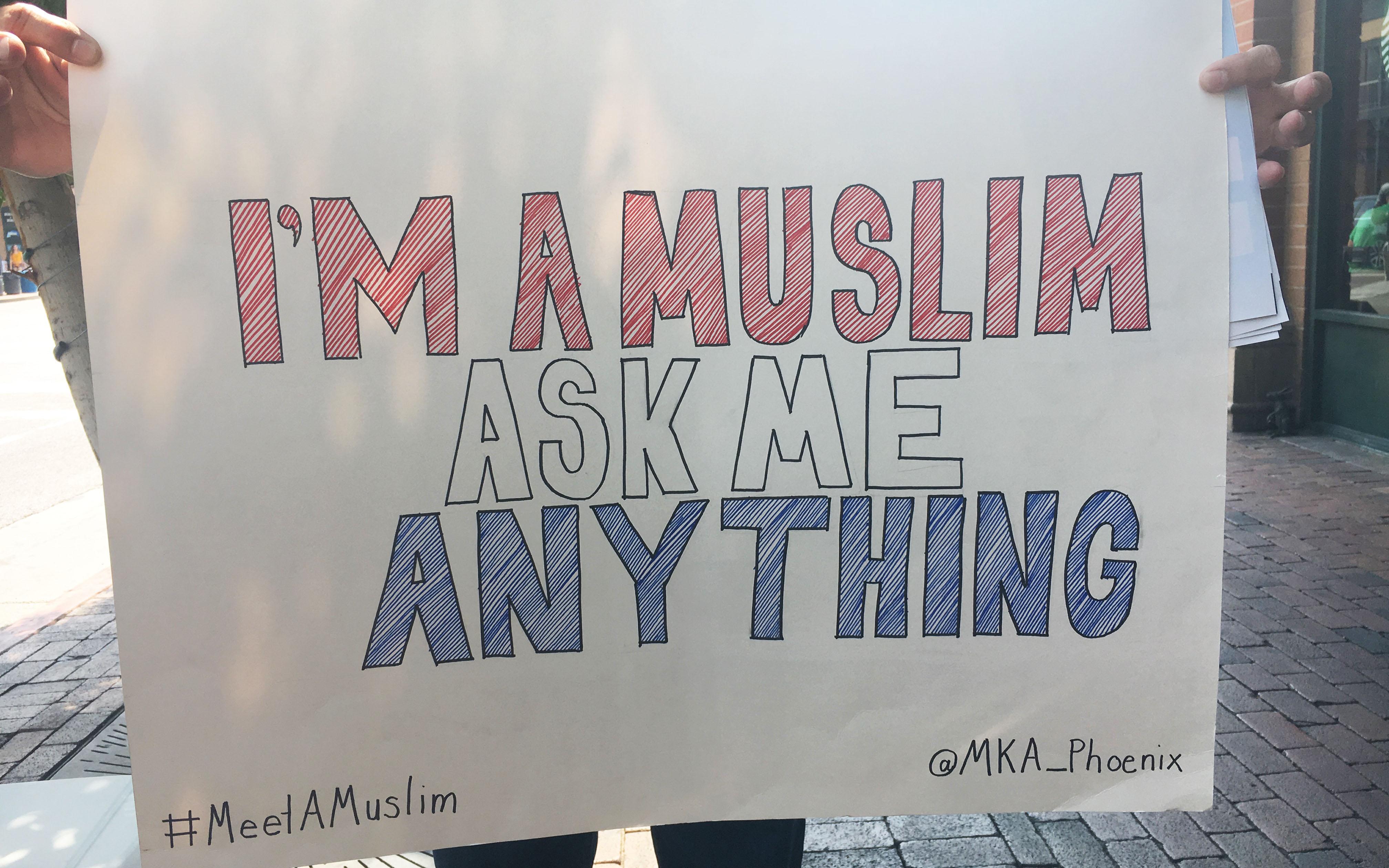 Meet A Muslim sign