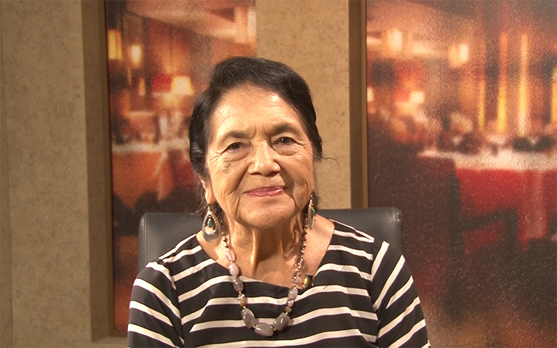 Civil rights icon Dolores Huerta says she wants to build a wall in Congress  | Cronkite News