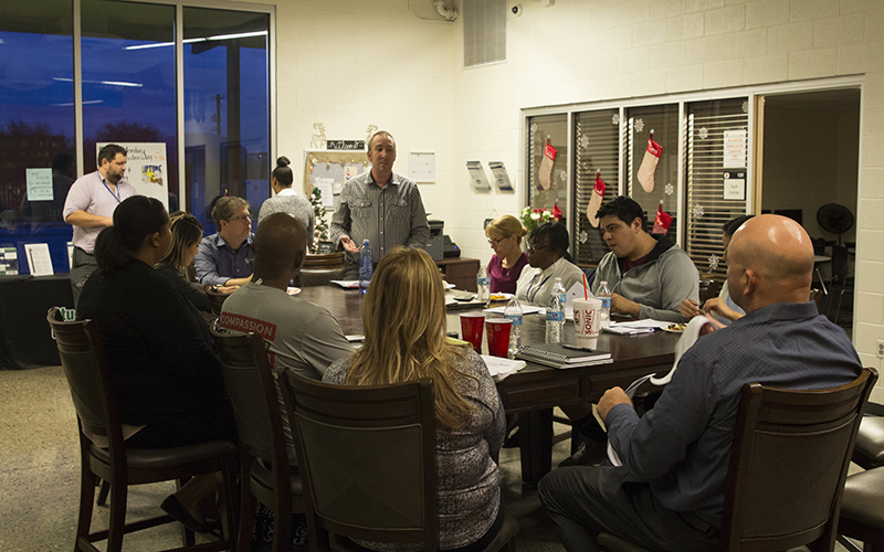 Christopher Dickenson addresses community leaders
