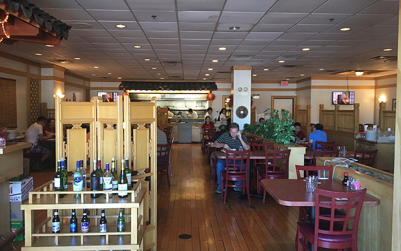 Patrons eat lunch at the Szechwan Palace