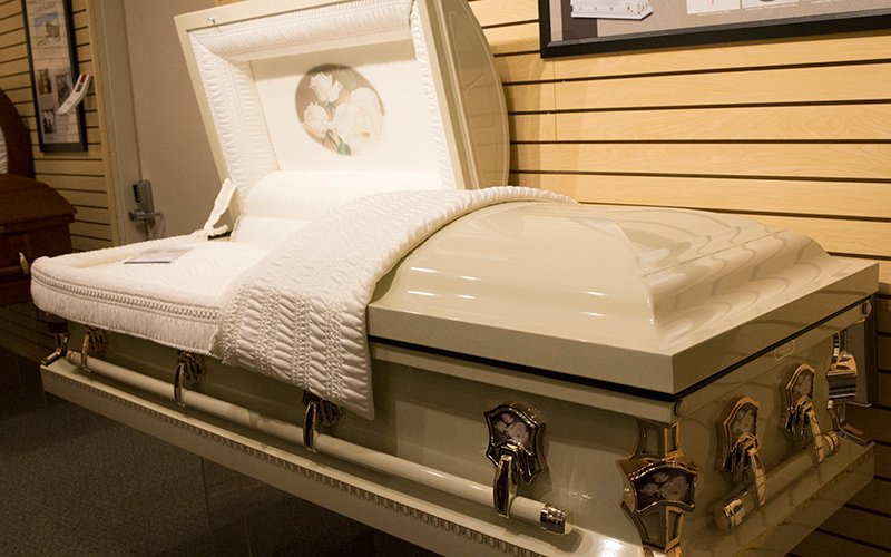 Messinger Mortuary coffin