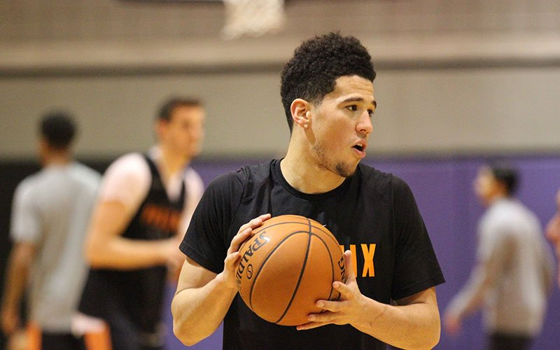 e4310d935 Phoenix Suns  Devin Booker looks to become the first player from the  franchise to land a spot in the All-Star Game since Steve Nash in 2012.