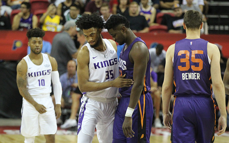 22ea1314774e The top two picks in the 2018 NBA draft — the Kings  Marvin Bagley III (No.  35) and the Suns  Deandre Ayton — faced off for the first time Saturday in  Las ...