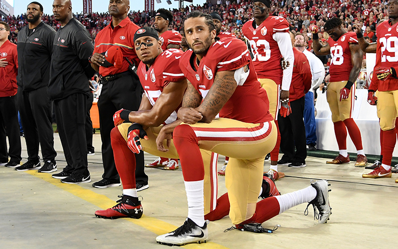 6dee9cabec07 ... since first kneeling during the national anthem to protest police  violence against black Americans. His new deal with Nike has sparked  renewed debate.