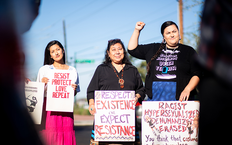 Protesters call for end to 'hottie' Native American costumes based on  stereotypes