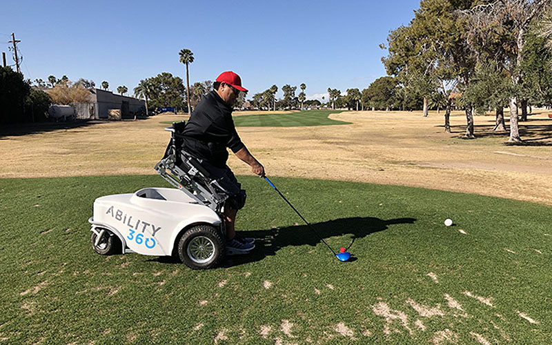 No longer on the fringe: Technology makes golf accessible to disabled community