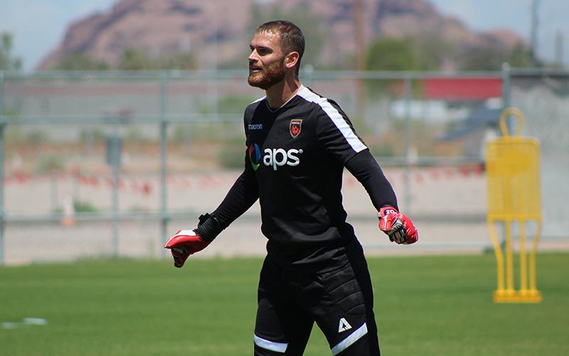 Phoenix Rising goalkeeper Carl Woszczynski