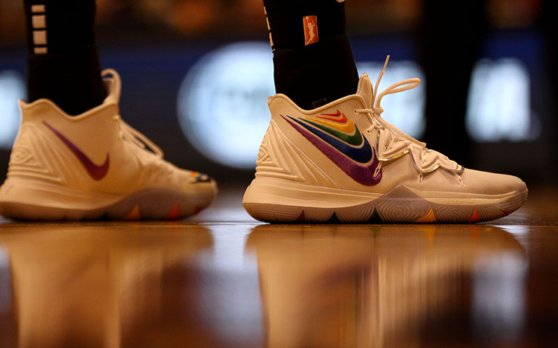 Pride Night shoes at Phoenix Mercury game