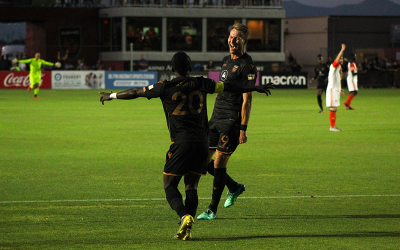 Phoenix Rising's Adam Jahn and Solomon Asante