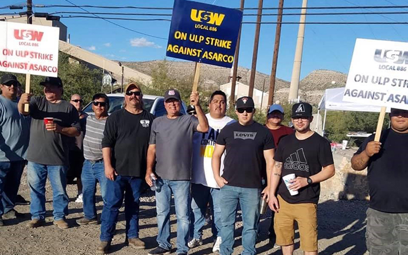 No talks between company, union, as Asarco strike enters its third day