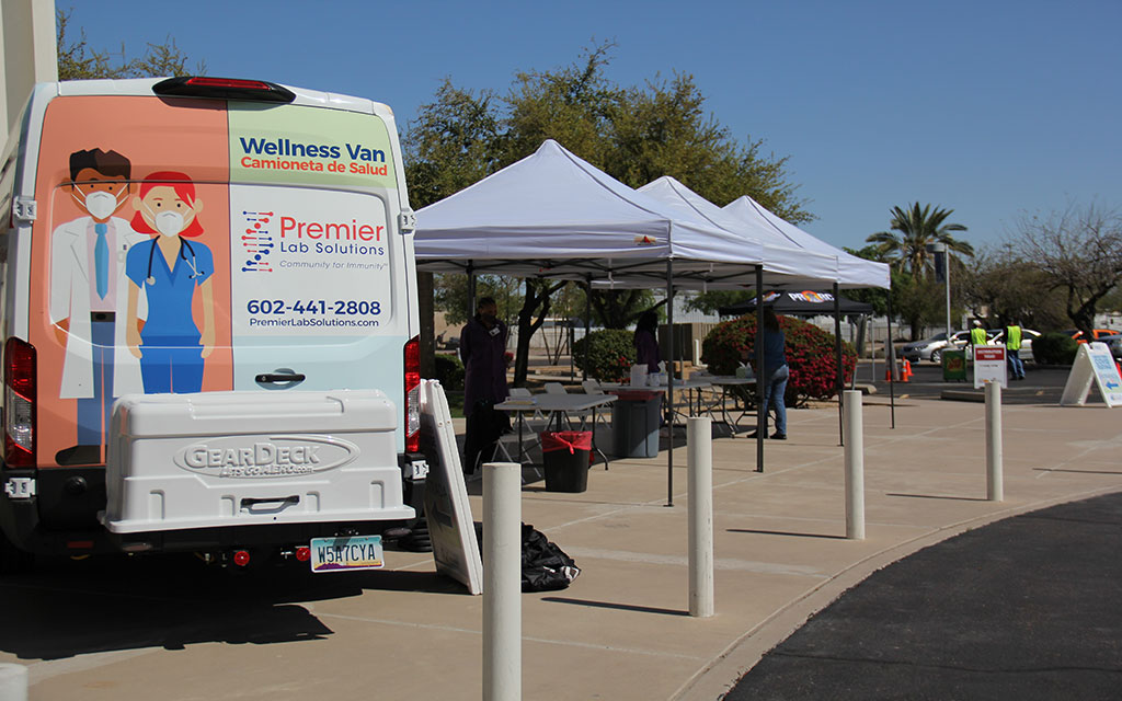 Vans hit the road to offer free COVID tests in Phoenix