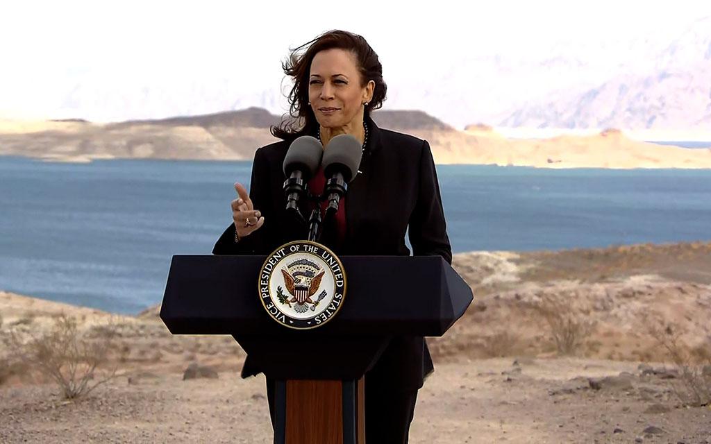 Vice President Kamala Harris at Lake Mead